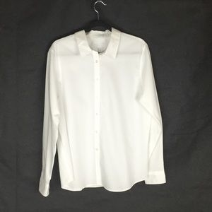 Charter Club Like New White Button Up Shirt